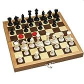 【ワケありお手頃価格】チェス&チェッカーセット No.250