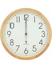 アイリスプラザ 天然木 掛け時計 電波時計 ナチュラル 32cm OTI-04