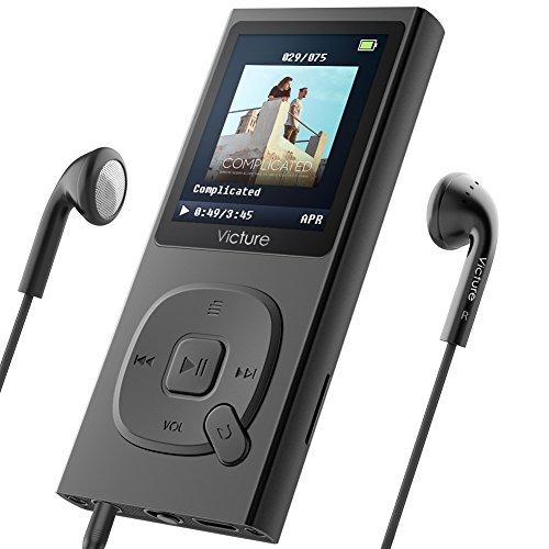 Victure MP3プレーヤー 最大100時間音楽再生 超軽量 HIFI高音質 8GB内蔵容量 最大128GBまで拡張可能 イヤホーン 1.8TFT画面サイズ FMラジオ ボイスレコーダー