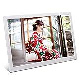 moonka 15インチ・デジタルフォトフレーム【ホワイト】/ 1280x800 HD解像度/ 画像・動画・音楽再生