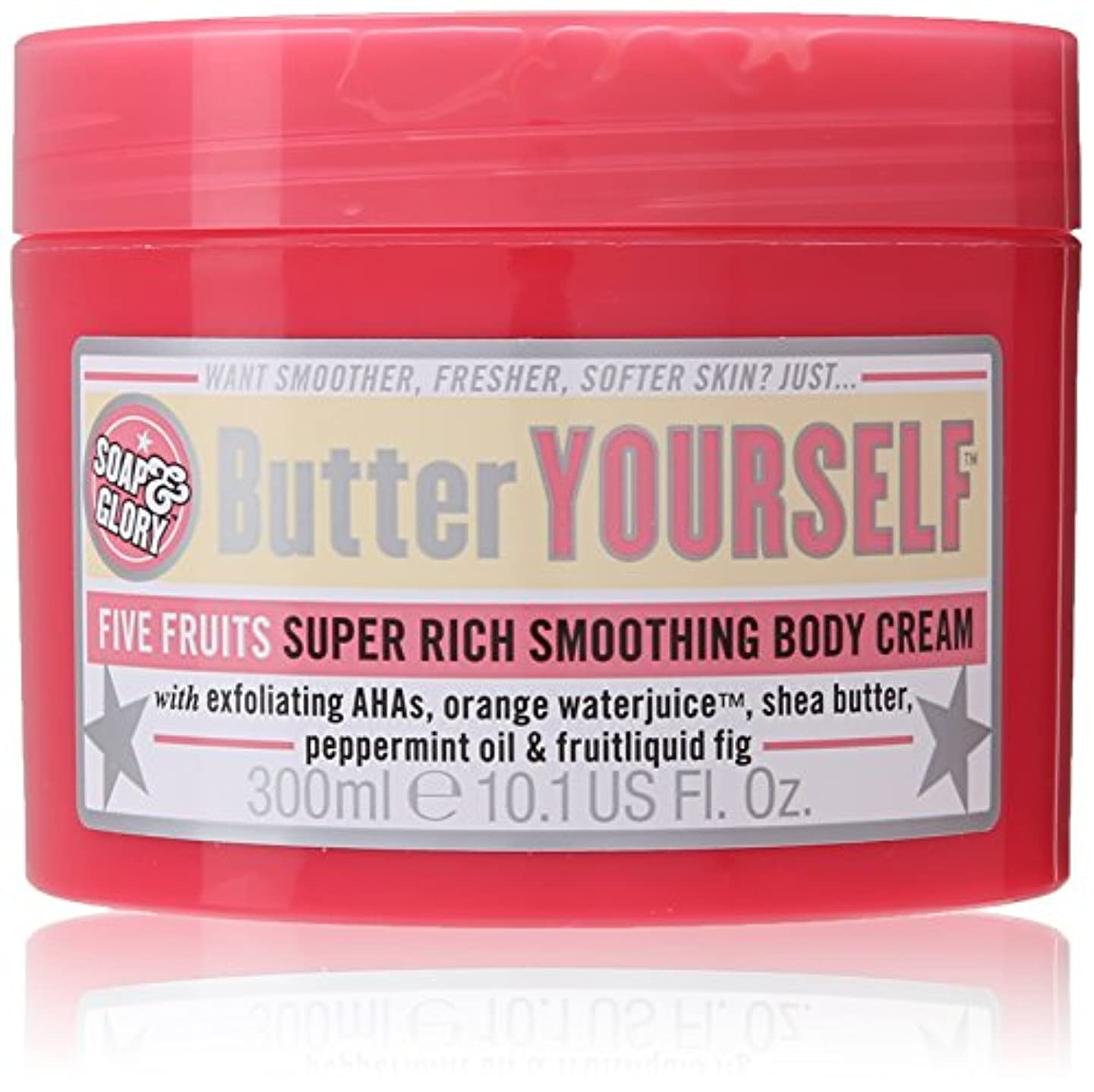 アンビエント見つける構成員Soap And Glory Butter Yourself Five Fruits Super Rich Smoothing Body Cream 300ml