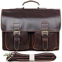 ブリーフケース レザー メンズ 光沢 高級本革 ビジネスバッグ 通勤鞄 厚みレザー 2WAY ショルダーバッグ 手提げバッグ 15インチPC収納 A4 通勤 出張