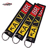 Motorcycle Keychain Aviator AV8R Airport Taxiway Keychain Bijoux Keychain for Cars Embroidery Key Fobs OEM ATV Car Key Chains