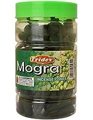 Tridev Mogra Incense Cones Jar 225グラムパック