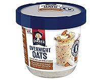 Quaker Overnight Oats Toasted Coconut & Almond Crunch クェイカーオーバーナイトオーツトーストココナッツ&アーモンドクランチング70g x 3個 [並行輸入品]