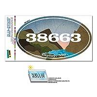 38663 リプリー, ミズ - 川岩 - 楕円形郵便番号ステッカー