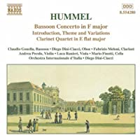 Bassoon Concerto in F Major by HUMMEL (1999-06-22)