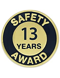 Pinmartのゴールドとネイビー13年安全審査エナメルラペルピン 100