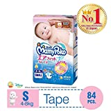 MamyPoko Air Fit Tape, S (4-8kg), 84 Count