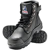 Steel Blue 'Argyle' 332152 Black Work Boots. Steel Cap Safety. Zip Side Bump Cap.