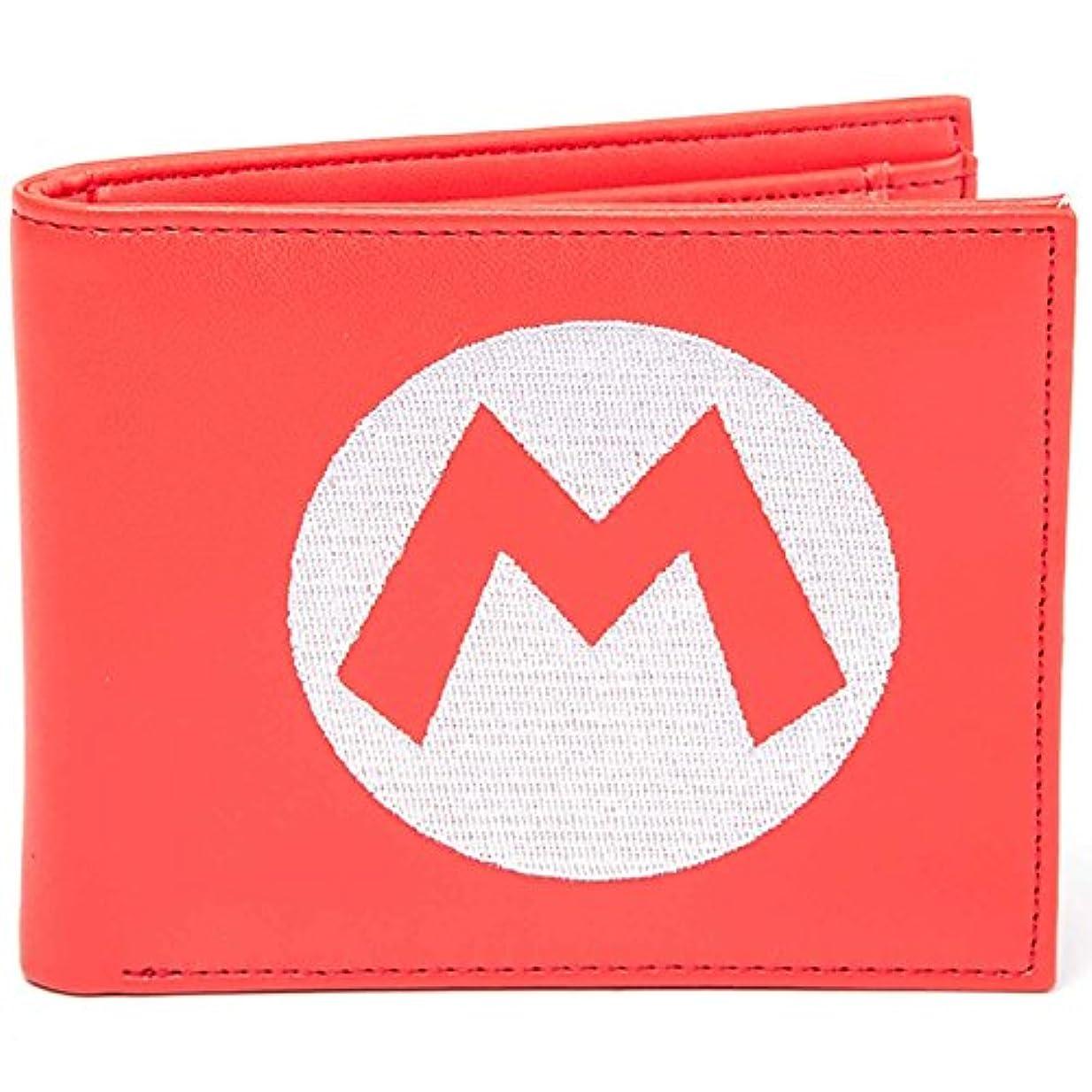 半円家事をする足首Nintendo 財布 Super Mario embroided Logo 公式 レッド Bifold