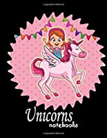 Unicorns notebook: Unicorn Notebook (Composition Book Journal) (8.5 x 11 Large) notebooks and journals, composition notebook, notebook paper wide ruled, Novelty Smiley, notebook paper reinforced holes,
