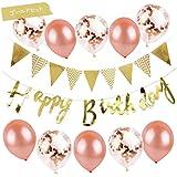 誕生日 飾り付け セット 風船 ガーランド 飾り 1歳 バースデー バルーン 男の子 女の子 オシャレ キラキラ (ゴールド)