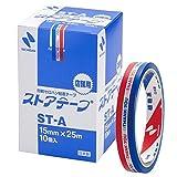 ニチバン セロテープ 10巻 ストアテープ 15mm×25m ST-A10P 三色旗