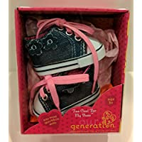 Our Generation Too Cool For My Shoes 46cm Doll Clothes Denim Sneakers