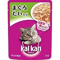 カルカン パウチ 成猫用 1歳から まぐろ たい入り 70g×16袋入り [キャットフード]