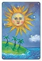 22cm x 30cmヴィンテージハワイアンティンサイン - ハワイの日(ラ) - ペイントされた元の色からのものです によって作成された ニコラ・モス