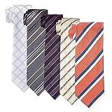 [アトリエサンロクゴ] シルク100% ネクタイ 5本 セット ネクタイの 5本セット 色・柄おまかせset マルチカラー 日本 FREE サイズ (FREE サイズ)