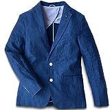 [ ノームコア センス ] リネン 100% 麻 ジャケット メンズ 上質 サマージャケット ブレザー 春 夏 秋 テーラードジャケット MA_43