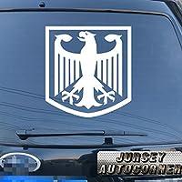 German Eagle Coat of Arms of Germany Deutschlandドイツ国旗の車トラックデカールステッカービニールDie Cut No背景Pickカラーサイズstyle2 16'' (40.6cm) ブラック 20171103s6