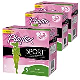 Playtex Super Absorbency Sport Tampons, Unscented, 36 count (Pack of 3)
