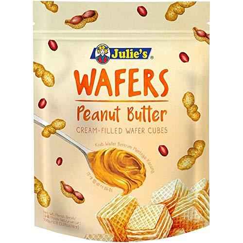 ジュリーズ キューブウエハースピーナッツバター 150g 袋 [ 着色料不使用 チャック付き マレーシア産 ]