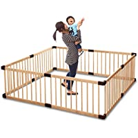 ottostyle.jp 木製ベビーサークル 【ナチュラル】 8枚セット 高さ55cm 大きさ、形組み換え可能 簡単設置