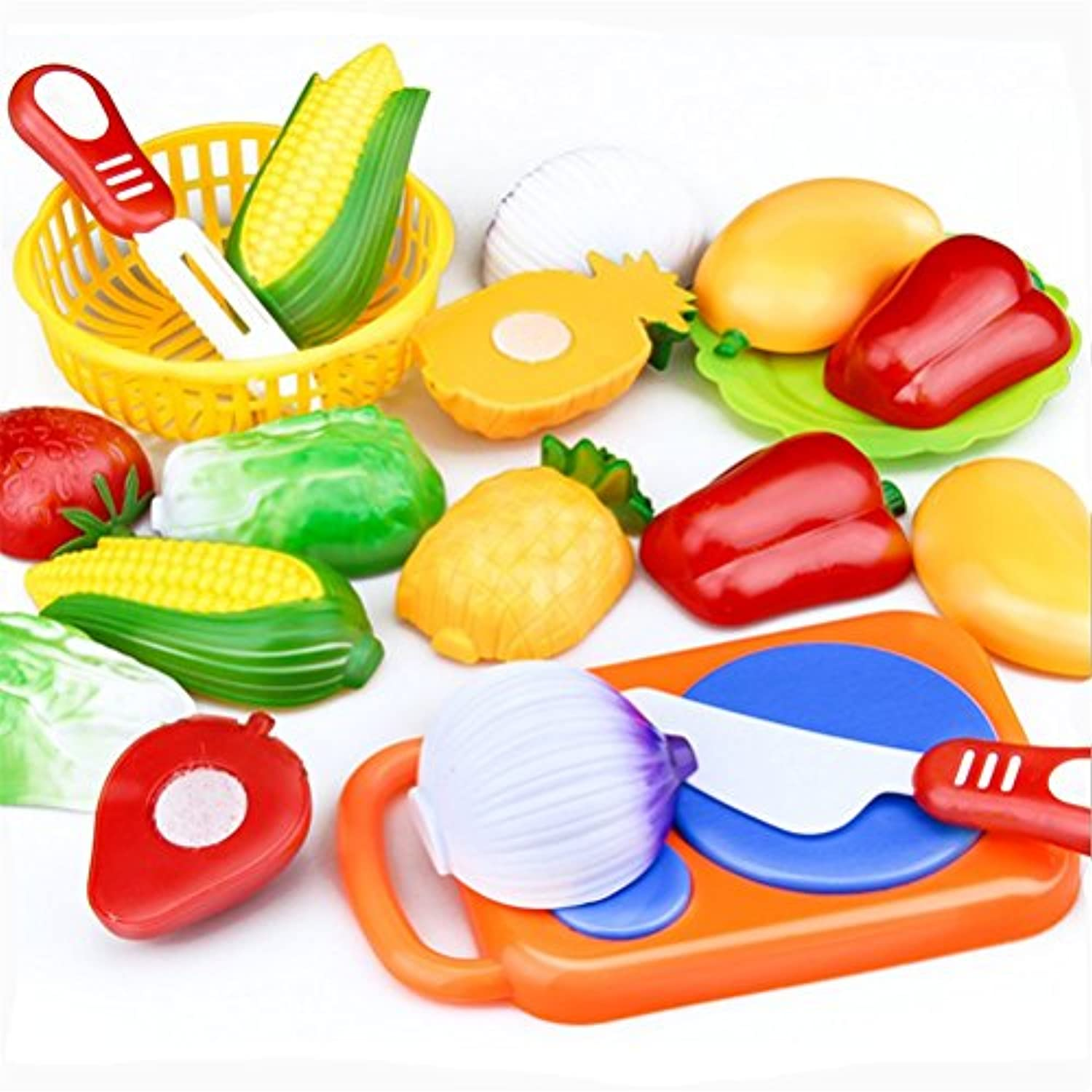 Elaco 12PC Cutting Fruit Vegetable Pretend Play Children Kid Educational Toy Christmas Gift