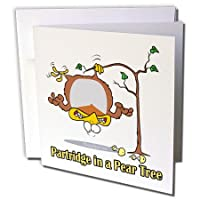Dooniデザインランダムトゥーン – Partridge in a Pear Tree – グリーティングカード Individual Greeting Card