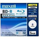 maxell 録画用 BD-R 130分 4倍速対応PLシリーズ インクジェットプリンタ対応ホワイト(ワイド印刷) 5枚 5mmケース入 BR25VPLWPB.5S
