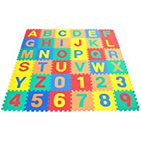 FunkyBuys?36pc Children's Kid's Soft EVA Foam Multicolors NUMBERS & ALPHABETS Complete Set Interlocking Play Matting Mats Jigsaw Puzzle Mats by FunkyBuys