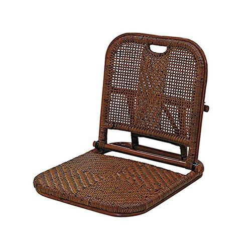 サンフラワーラタン 温泉旅館折りたたみ座椅子 C08HR ハニーブラウン