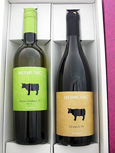 【贈り物・ギフトに・有機ワイン】特選オーストリアワイン紅白2本セット(オーガニック) 化粧箱入り【オーストリア産・白ワイン×1・赤ワイン×1・辛口・オーガニック・750ml】