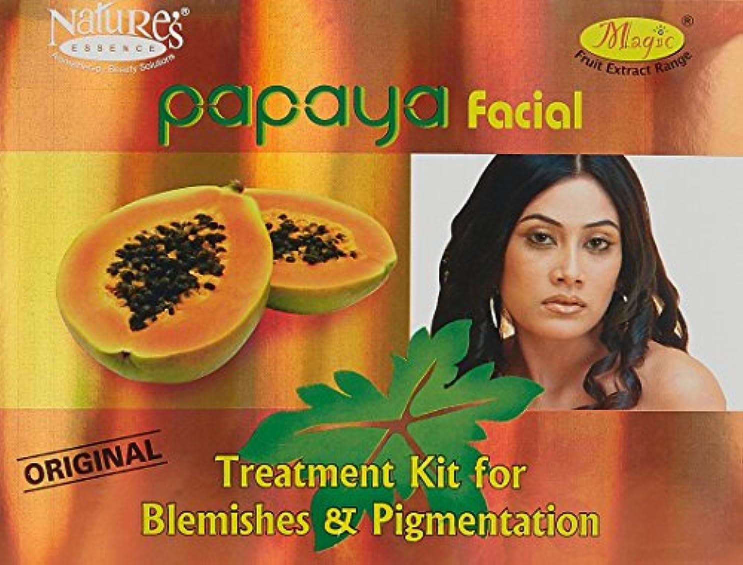 ボア大腿別に自然のエッセンスパパイヤフェイシャルキットシミ·色素沈着1キットNature's Essence Papaya Facial Kit Blemishes & Pigmentation 1 Kit