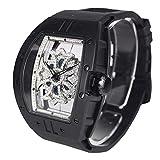 ビッグ レクタングル スケルトン クロス[ベゼル]ブラック[クロス]クリアー[ベルト]ブラック 1325-0102 アンコキーヌ 腕時計 グルグル時計 ぐるぐる時計