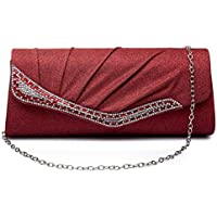 Fashion Clutch Bag Evening Bag Sparkle Paillette Purse for Party Wedding Cocktail