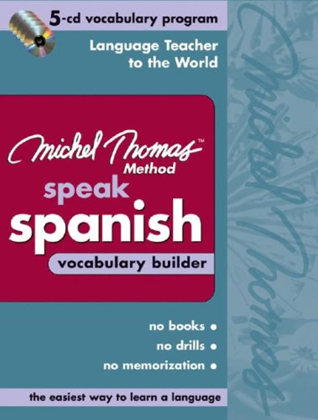 赤望まない震えるMichel Thomas Speak Spanish Vocabulary Builder: 5-CD Vocabulary Program (Michel Thomas Series)