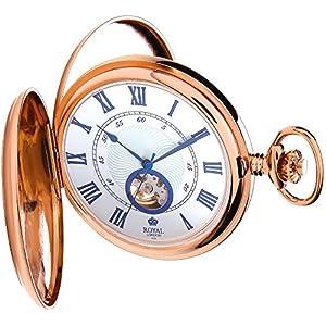 [ロイヤルロンドン]ROYAL LONDON 懐中時計 ポケットウォッチ ダブルハンターケース 手巻き 90051-03 【正規輸入品】