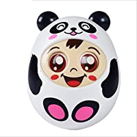 Keaner新生児幼児Roly - Polyおもちゃ漫画セーフベビーPram Pushchair Rattle Blinkサウンドタンブラー教育玩具(ホワイト)
