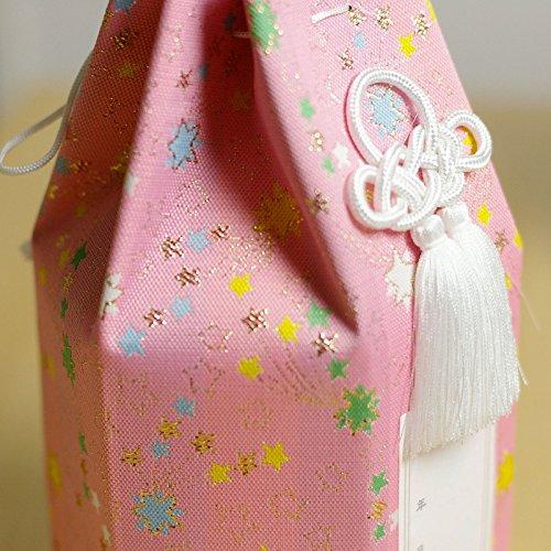 ペット メモリアル 骨壷用 骨袋 4寸用 流れ星 犬、猫などの骨壷に ピンク