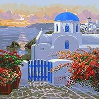 デジタルキャンバス油絵風景diyホームデコレーション寝室リビングルーム絵画40x50cm b