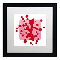 商標Fineアートav0220-b1111mfピンクの正方形ホワイトby Amy Vangsgard 16x16 AV0220-B1616MF