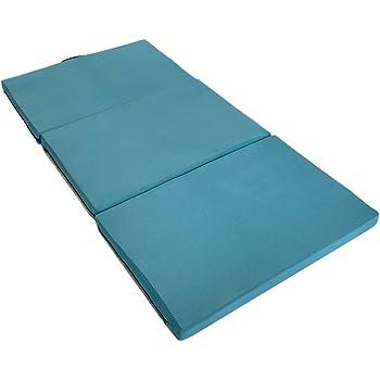 エイプマンパッド307 高反発マットレス 三つ折り 厚み7cm (ミッドブルー, シングル)