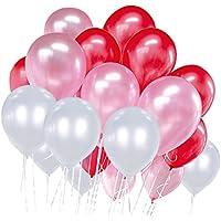 【HAPPY LAB】 ラウンドバルーン ゴム風船 パールカラー 大容量 60個入り 36cm 結婚式 二次会 パーティーに! (3色ミックス)