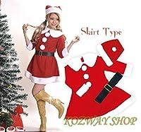 【Upwing】ボリュームのある襟がかわいいサンタコスプレ衣装 クリスマスコスチューム X'mas Christmas santa costume cosplay 赤色c6