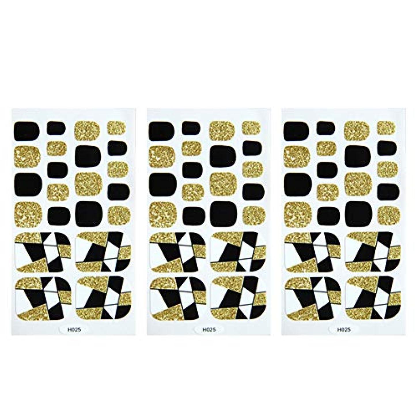 Poonikuuネイルシールステッカー 足爪ネイル ネイルアート ネイルチップ ネイルの飾り 貼るだけアマチュア ネイル好きの女性レディース 人気のあるビューティー美しさ 安全便利無害無毒 3枚セット ゴルード