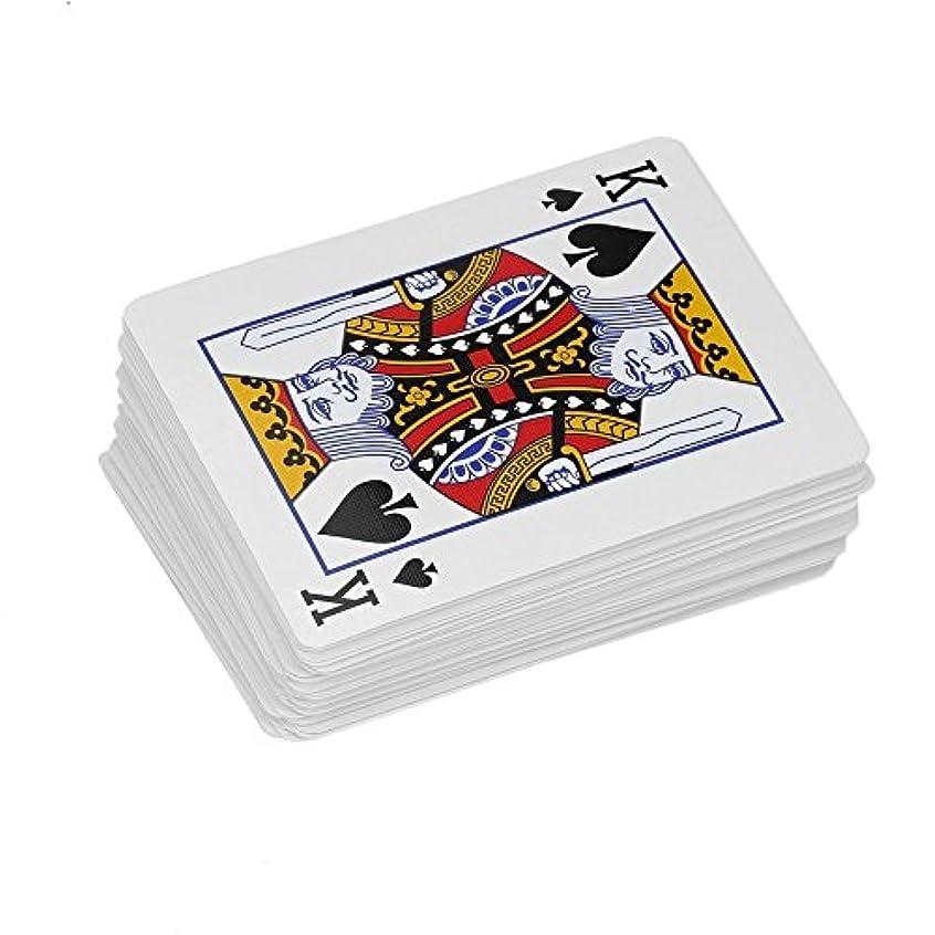 フェード心理的いちゃつくファッショナブルな普通のポーカートランプクローズアップマジックトリック小道具デッキカード大人子供用教育用玩具 - 赤