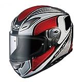 オージーケーカブト(OGK KABUTO)バイクヘルメット フルフェイス AEROBLADE3 MAVERICK (マーベリック) ホワイトレッド (サイズ:XL)