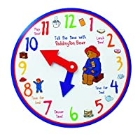 (One Size) - Paddington Learn to Tell The Time Wooden Clock,by Rainbow Designs