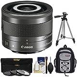 Canon EF - M 28MM F / 3.5マクロis STMレンズwith組み込みマクロLite with 3UV / CPL / nd8フィルタ+バックパックケース+三脚+キット